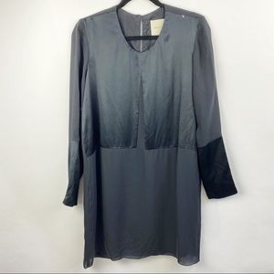 Mason Silk long sleeve black dress